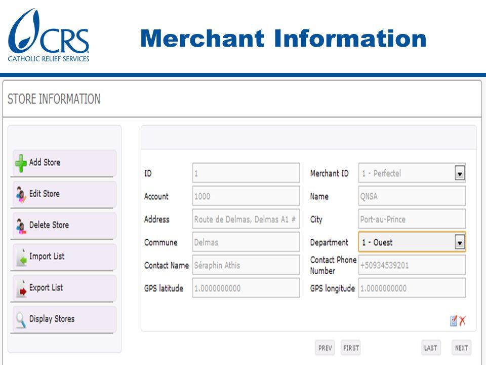 Merchant Information