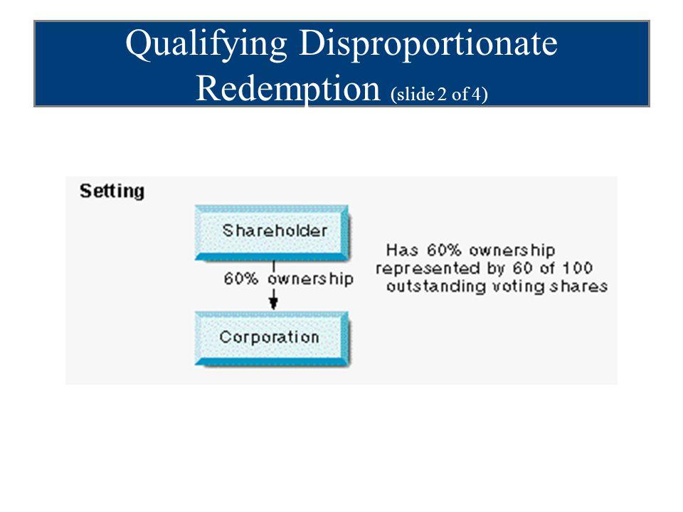 Qualifying Disproportionate Redemption (slide 2 of 4)