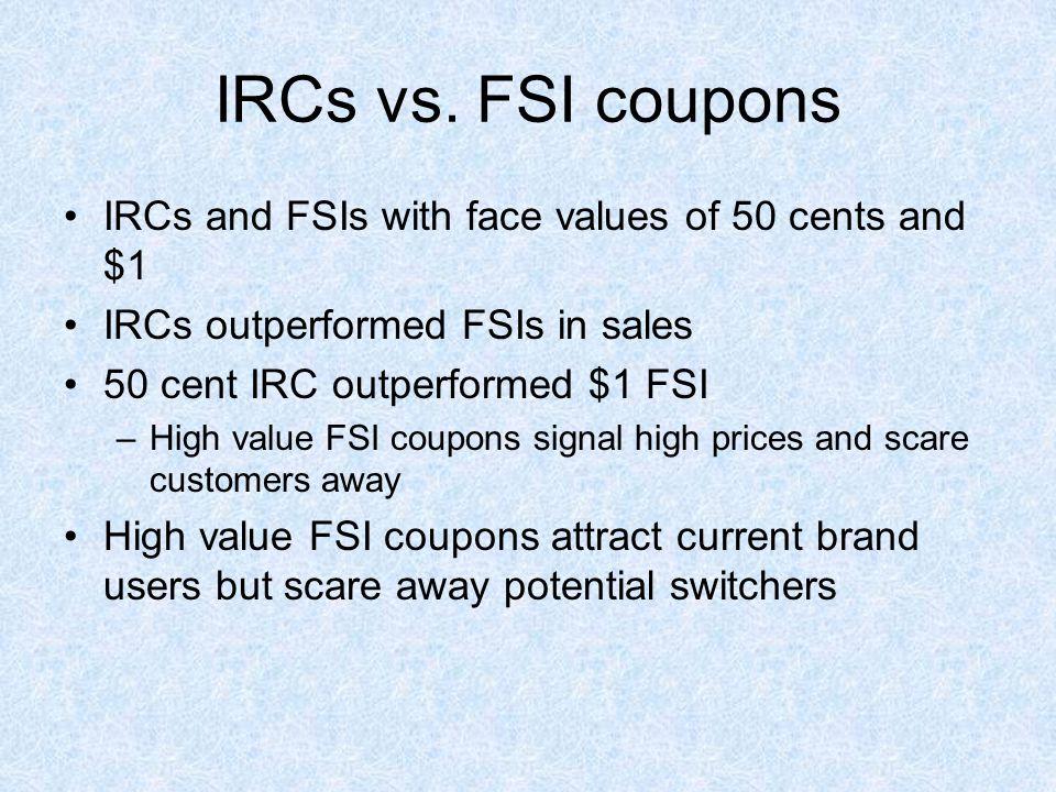 IRCs vs.