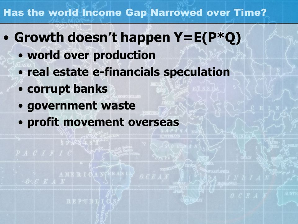 Has the world Income Gap Narrowed over Time.