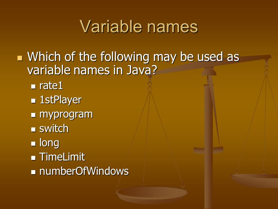 Variable names Can a Java program have two different variables named number and Number.