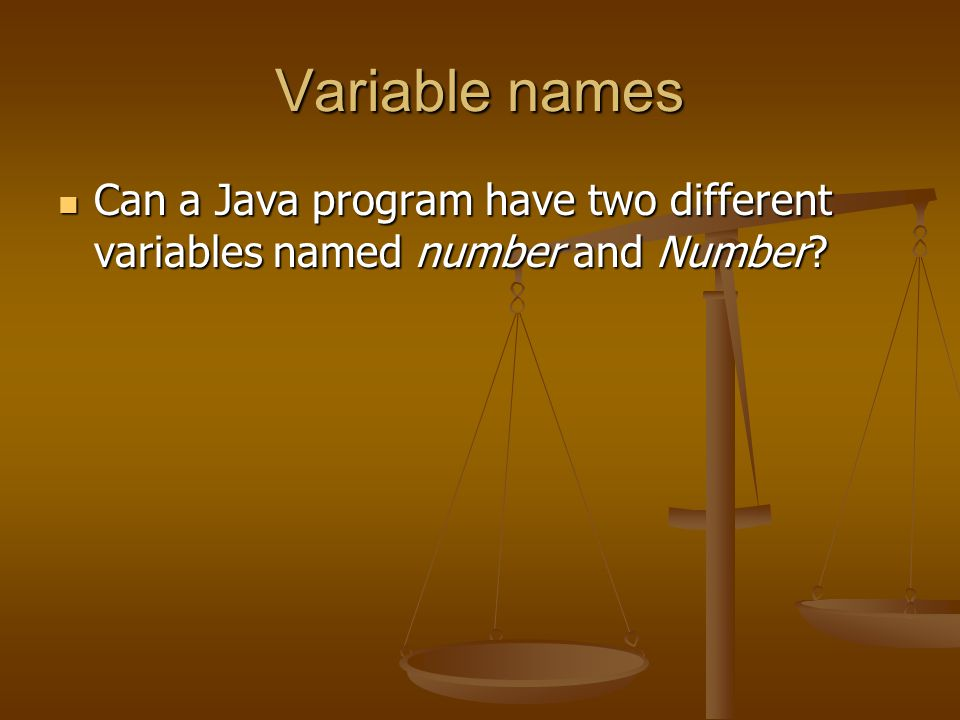 Variables Give the declaration for two variables called count and distance.