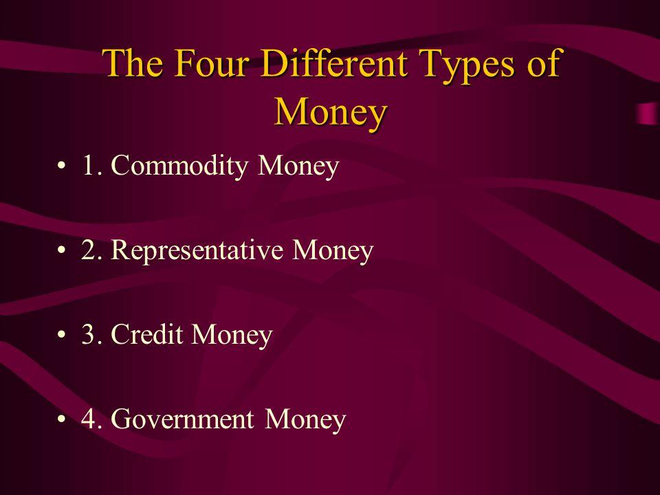 Government Representative And Credit Money