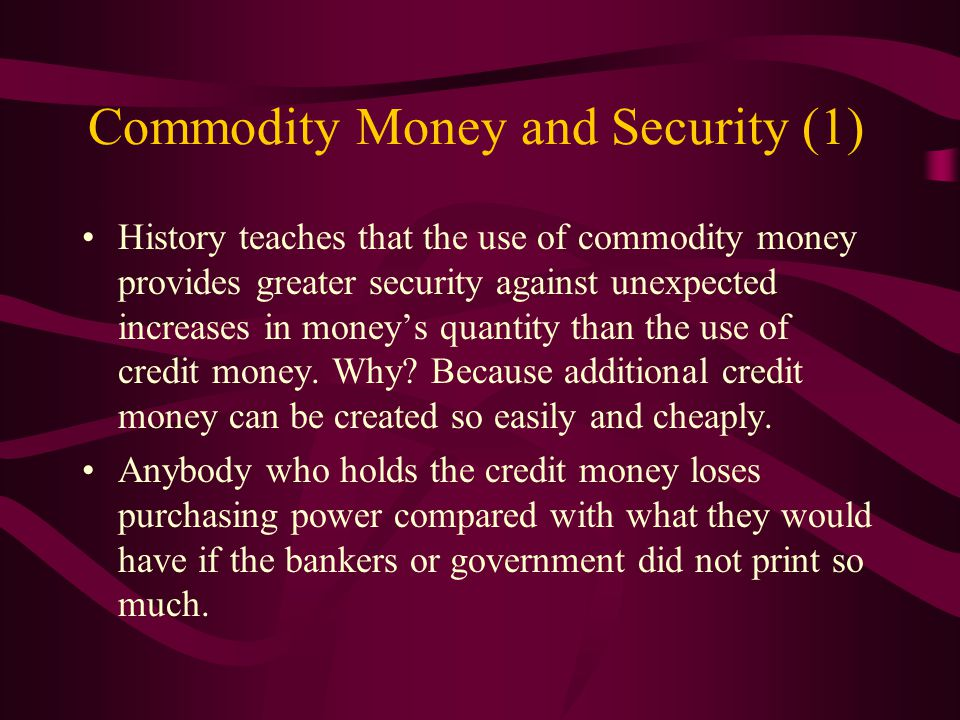 Examples of Government Money (4)