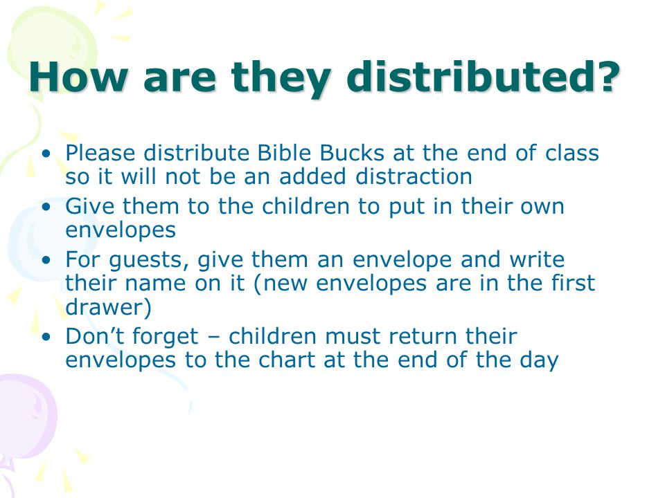 How are they distributed.