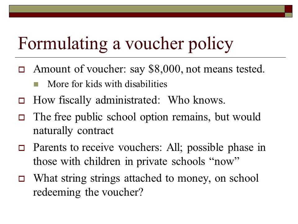 Turning to empirics  Private vs. government schools  School choice experiences