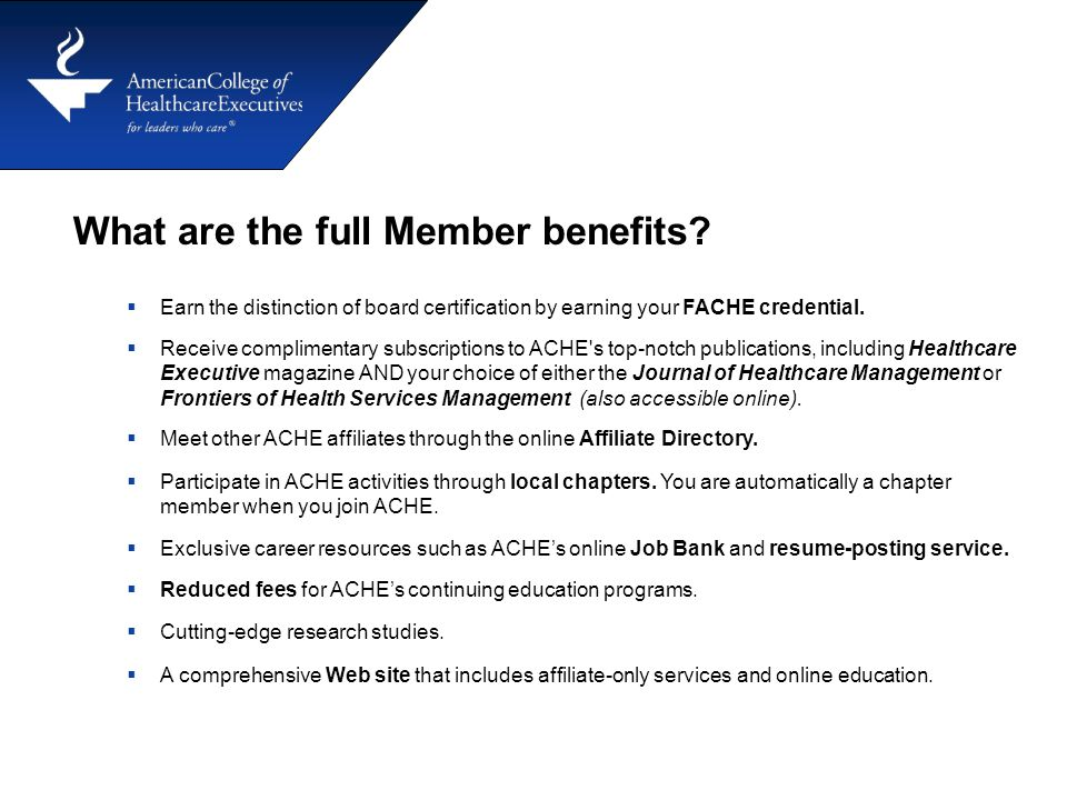 What are the full Member benefits.