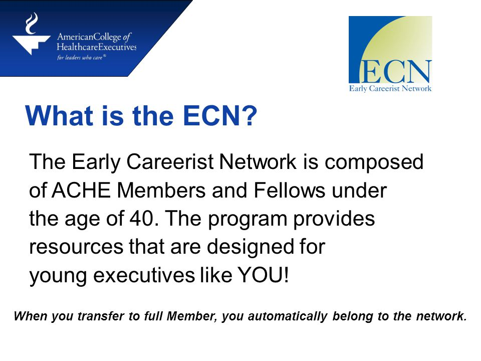 What is the ECN.