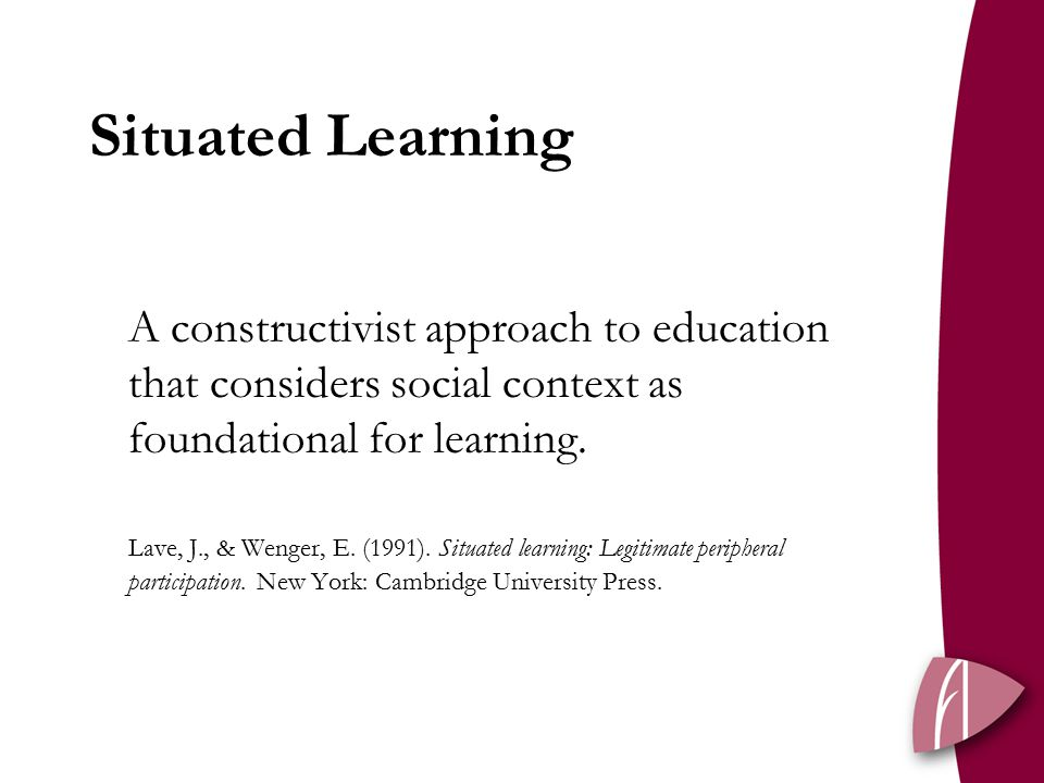 A constructivist approach to education that considers social context as foundational for learning.