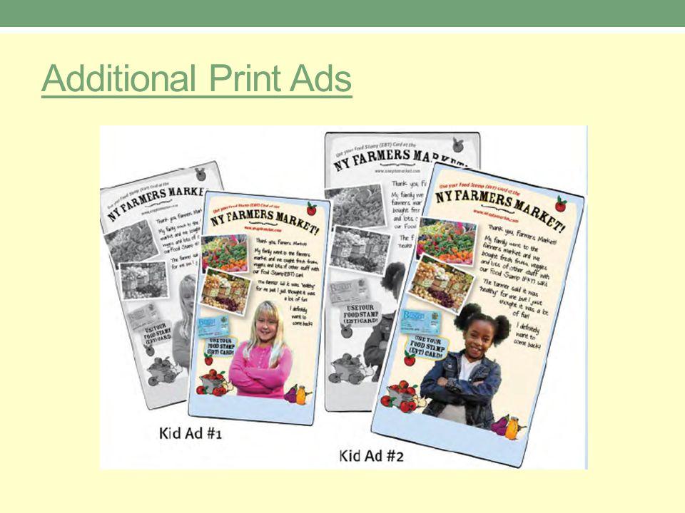 Additional Print Ads