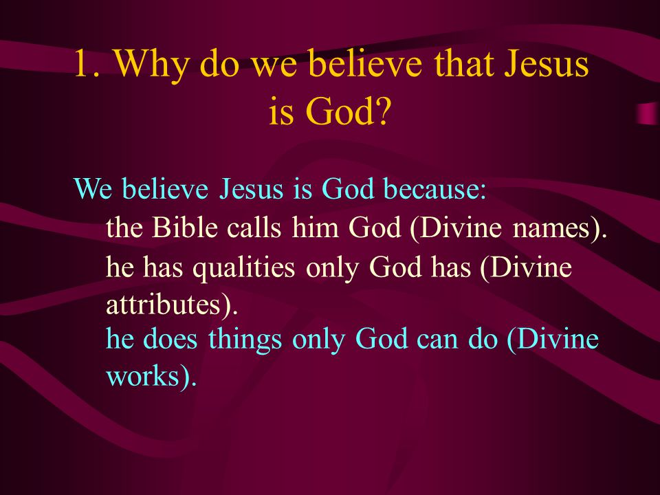 Divine works: Jesus does things only God can do