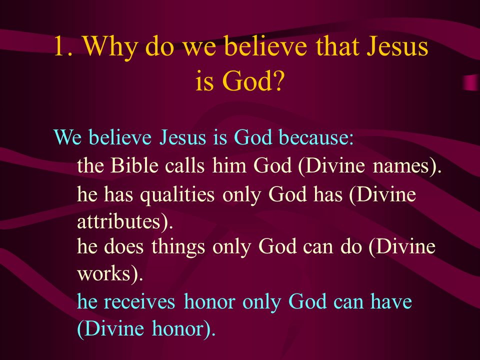 Divine honor: Jesus is honored the way only God is