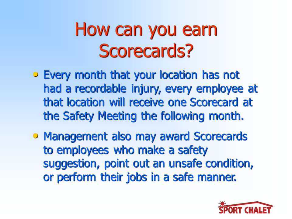 How can you earn Scorecards.