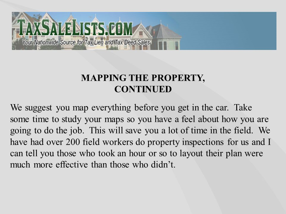 We suggest you map everything before you get in the car.
