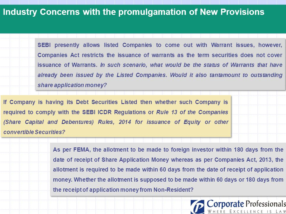 Industry Concerns with the promulgamation of New Provisions If Company is having its Debt Securities Listed then whether such Company is required to c