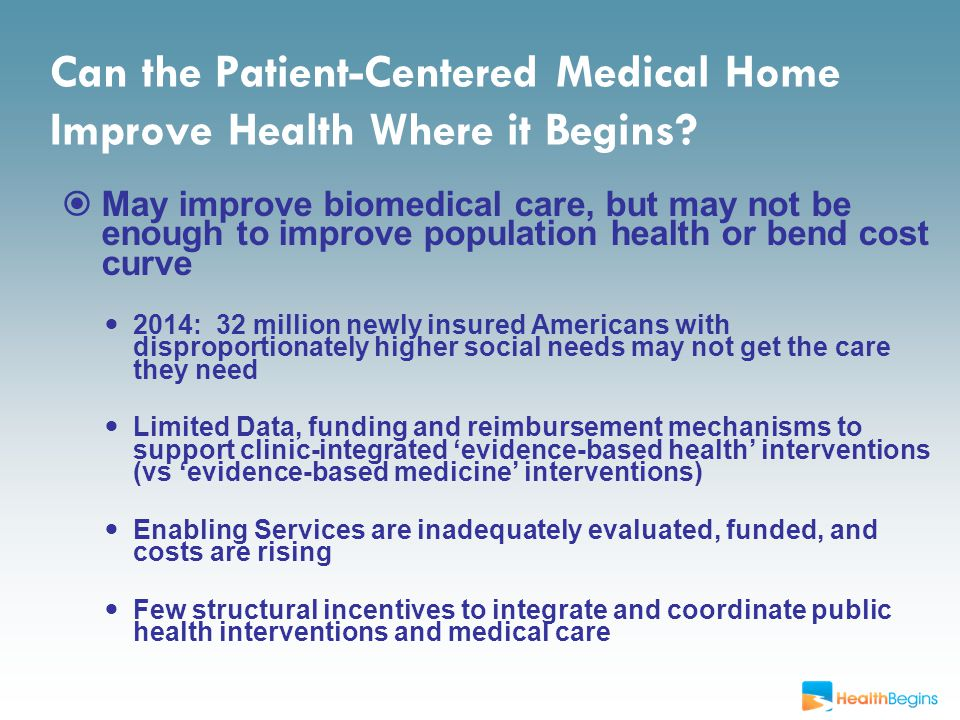 Can the Patient-Centered Medical Home Improve Health Where it Begins.