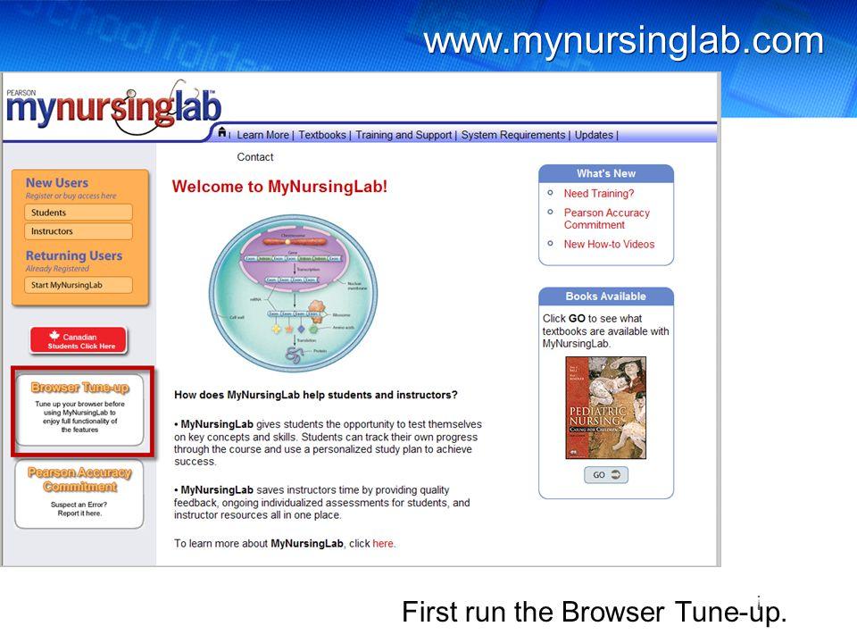 www.mynursinglab.com Next, check System Requirements. !