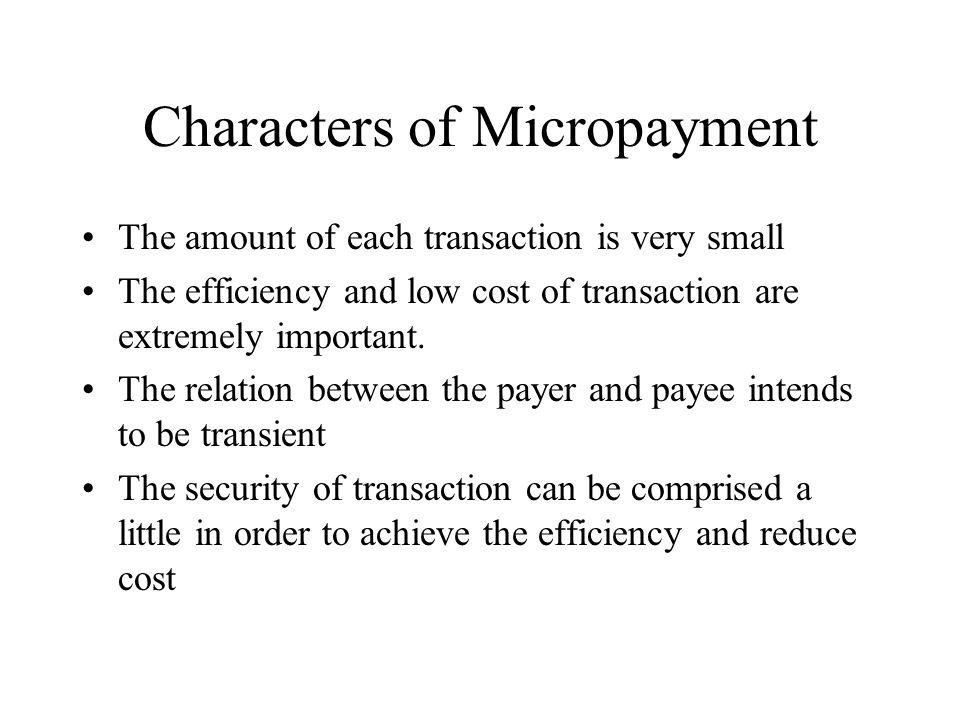 Payword - Algorithm Credit-based schema.