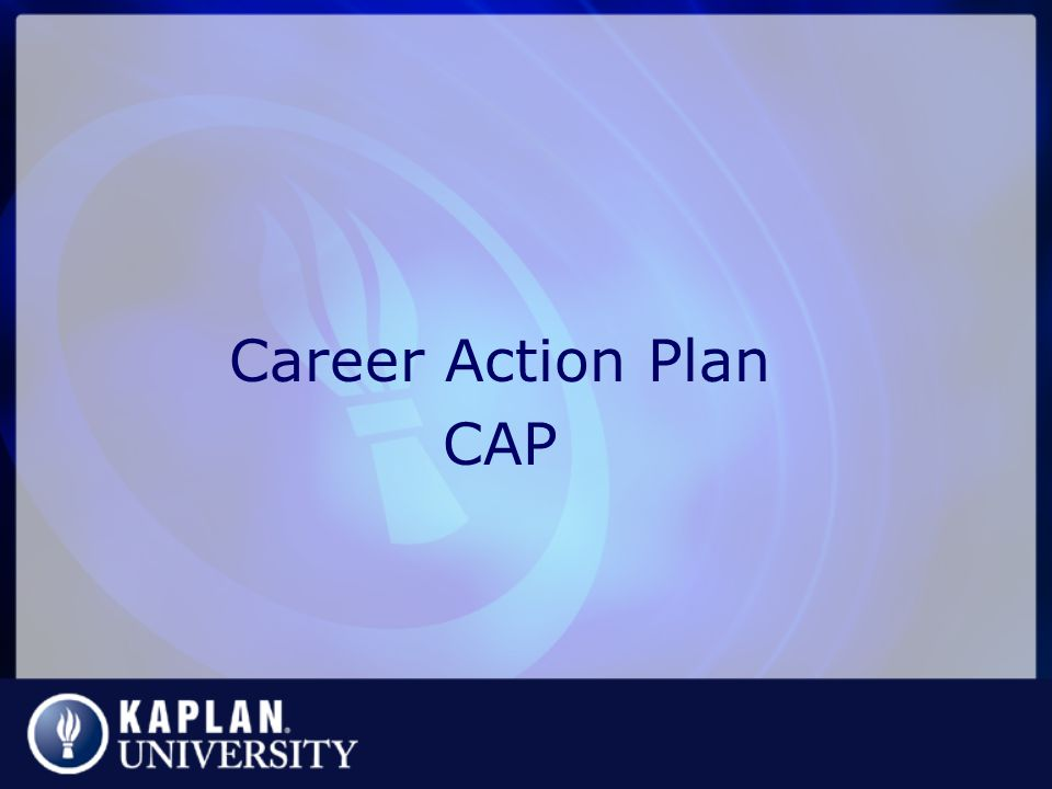Career Action Plan CAP