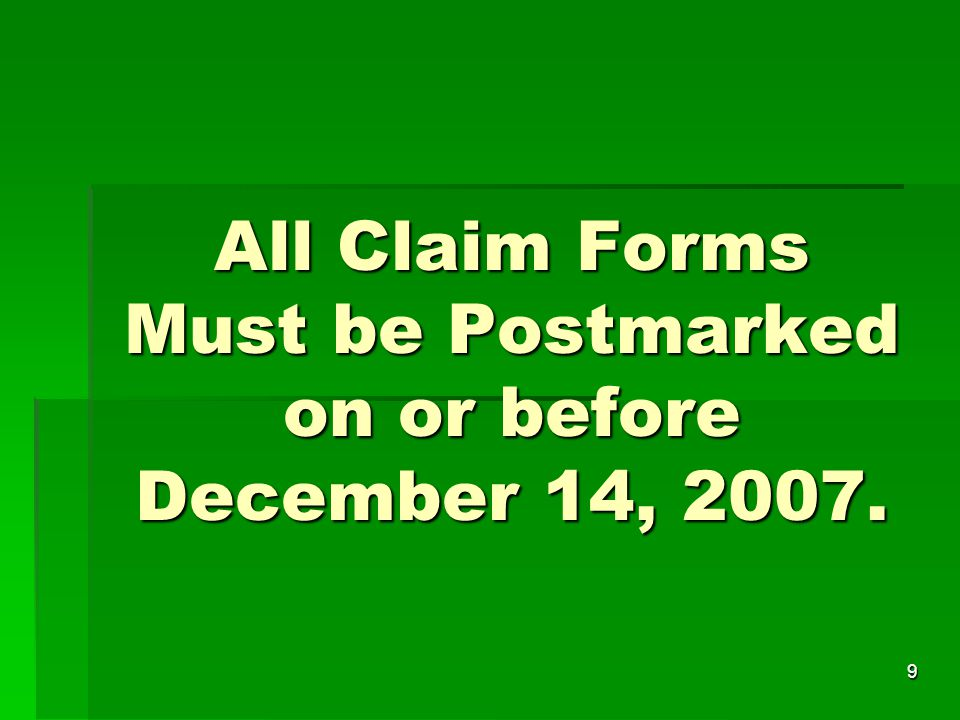10 Which Claim Form.