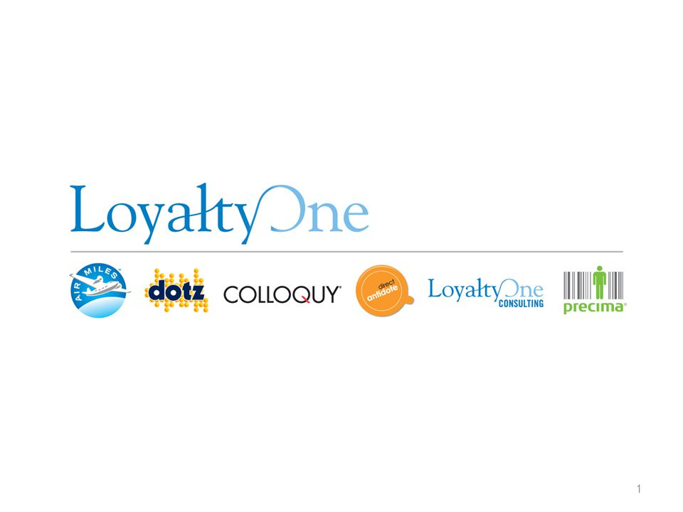 All information contained herein is confidential and/or proprietary information of LoyaltyOne, Inc.