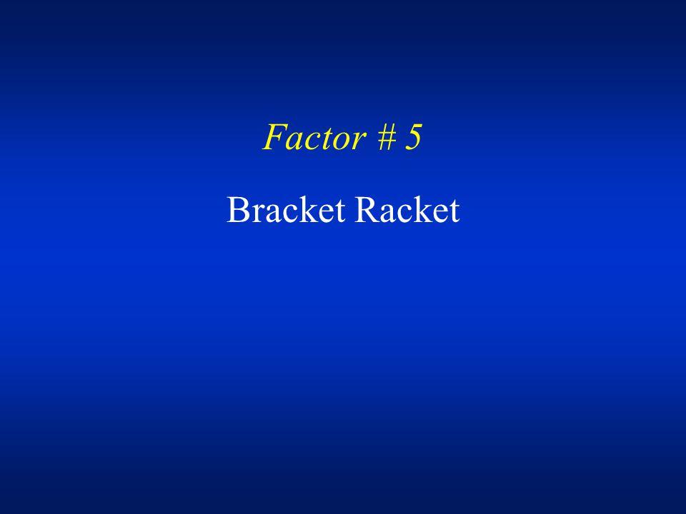 Factor # 5 Bracket Racket