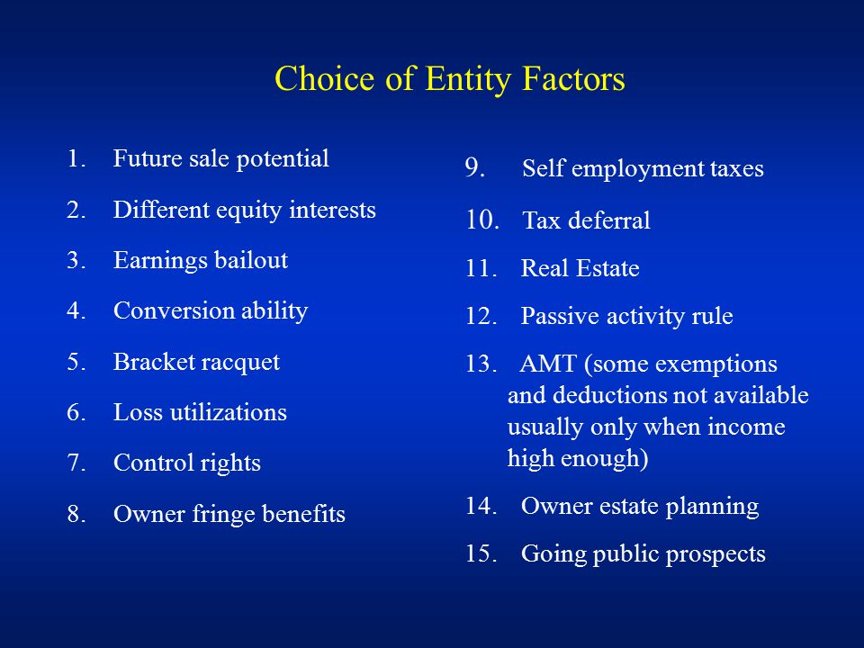 Big Non-Factor Owner Limited Liability