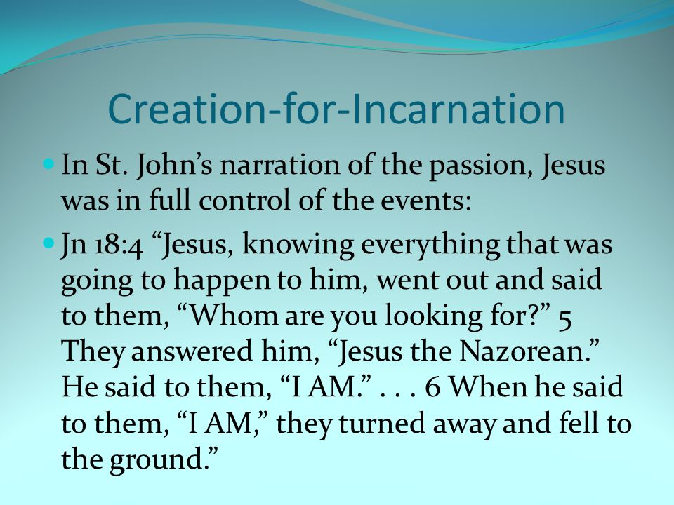 Creation-for-Incarnation In St.