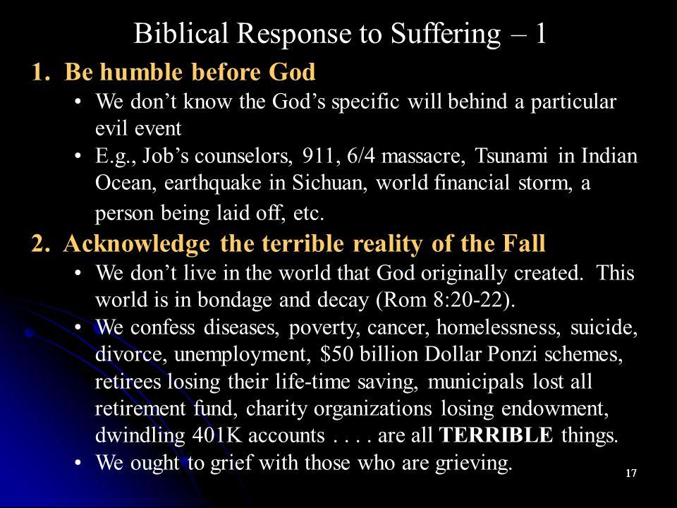 17 Biblical Response to Suffering – 1 1.