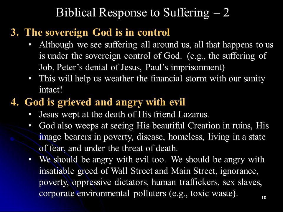 18 Biblical Response to Suffering – 2 3.