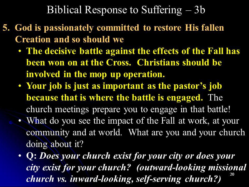 20 Biblical Response to Suffering – 3b 5.