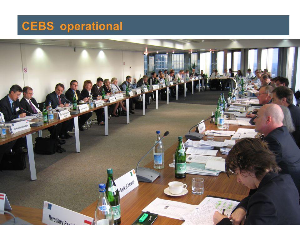Helmut Bauer | 19 September 2006 3 CEBS CEBS' operational
