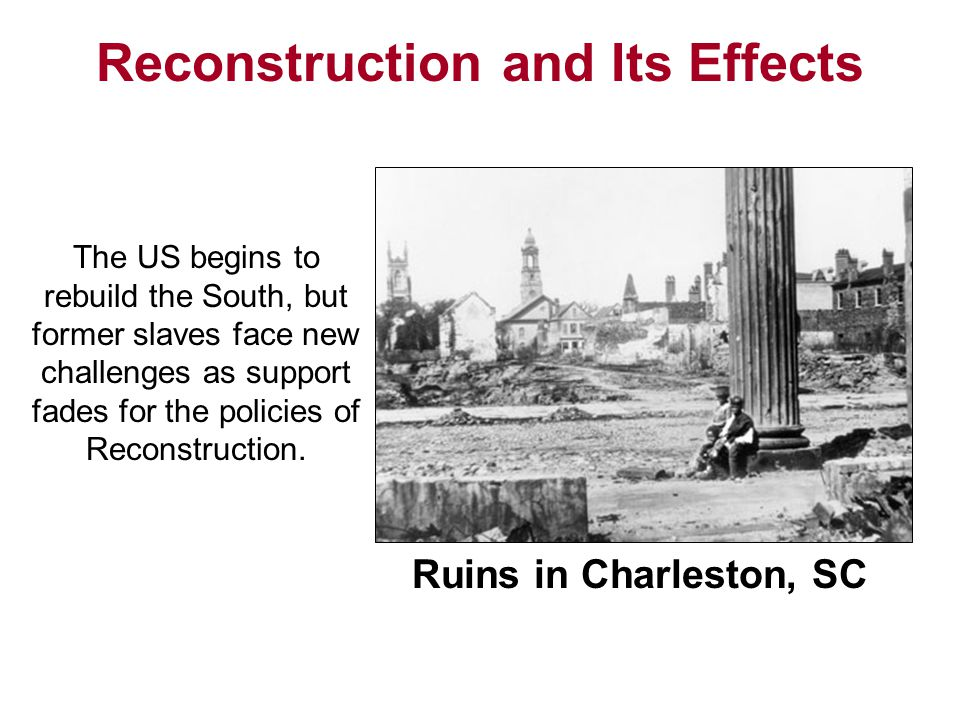 Section 1 The Politics of Reconstruction Congress opposes Lincoln's and Johnson's plans for Reconstruction and instead implements its own plan to rebuild the South.