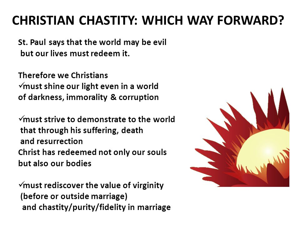 CHRISTIAN CHASTITY: WHICH WAY FORWARD. St.