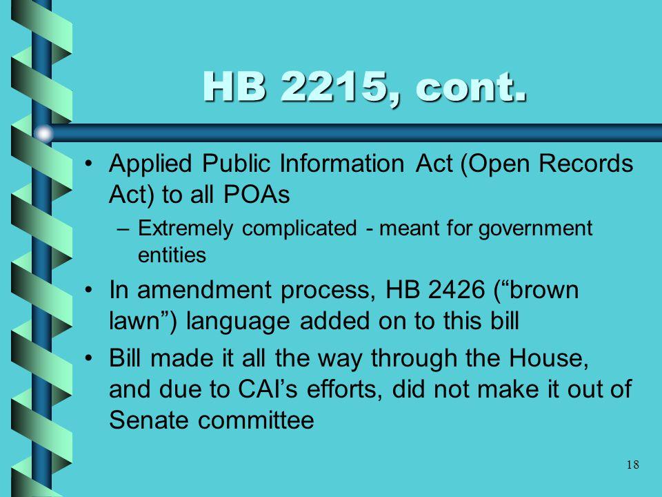 18 HB 2215, cont.