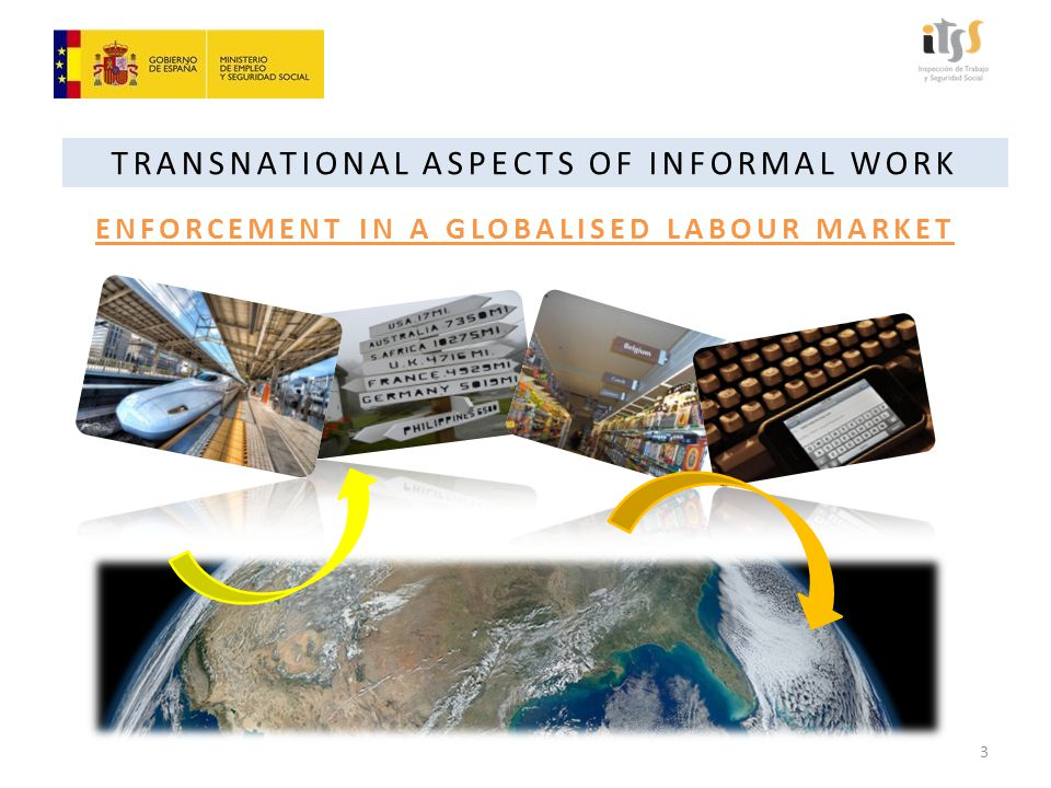 TRANSNATIONAL ASPECTS OF INFORMAL WORK SUMMARY OF IDEAS Globalization of the labour market (formal and informal) Undeniable transnational implications.