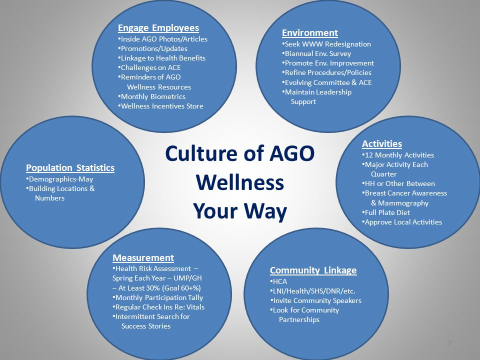 AGO Wellness Network Structure Strategic Plan identifying general objective for Wellness Committee and Chief of Staff Policy Wellness Committee – Curr
