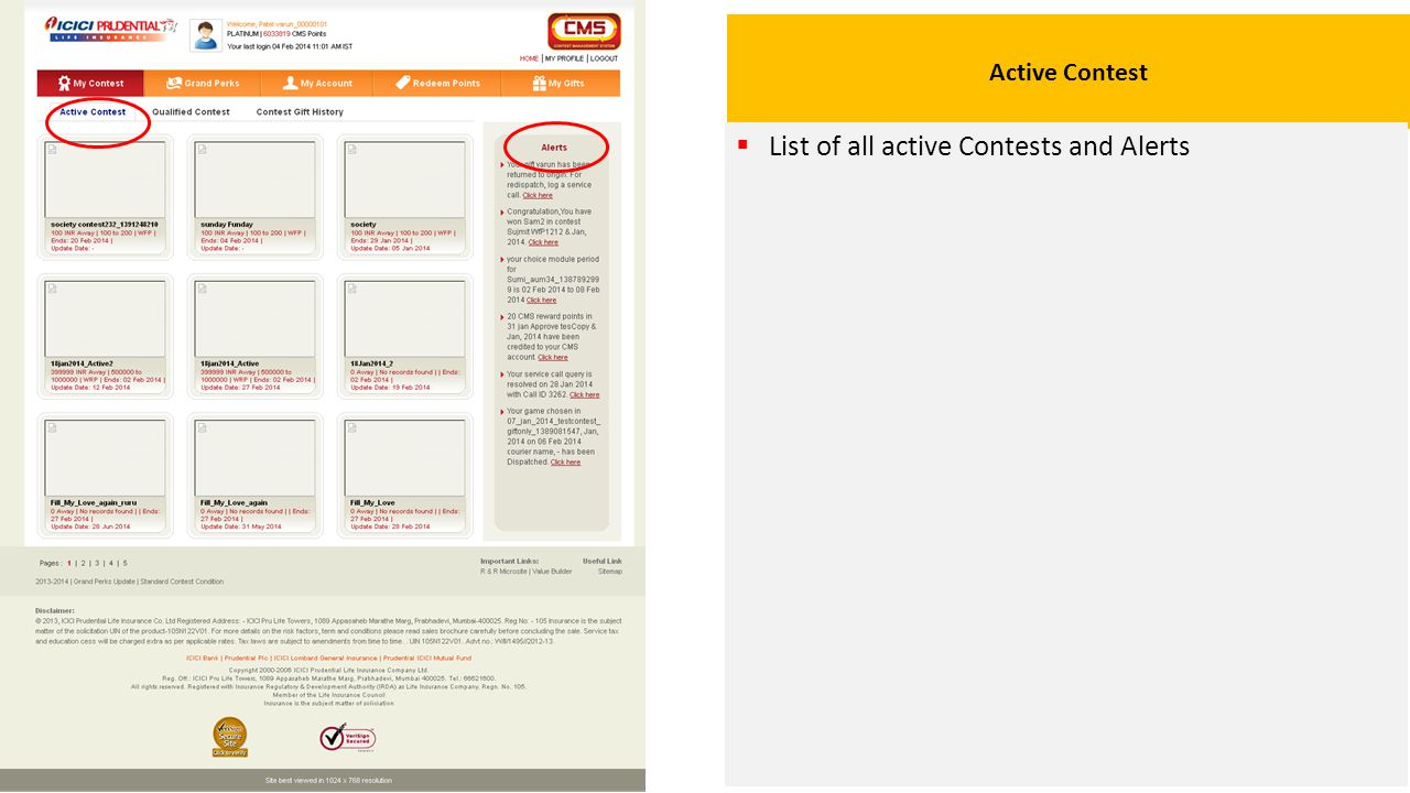 Qualified Contest  Shows contests for which user is qualified to apply, user can select any of it.