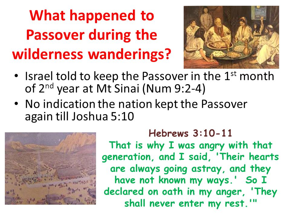 What happened to Passover during the wilderness wanderings.