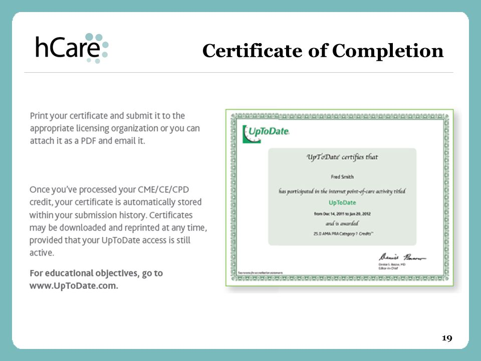 Certificate of Completion 19