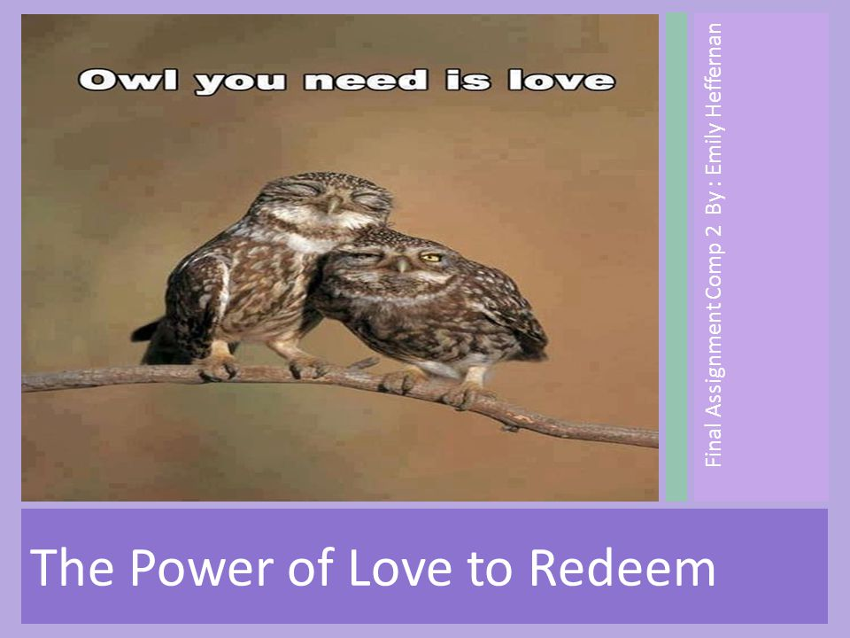 Final Assignment Comp 2 By : Emily Heffernan The Power of Love to Redeem