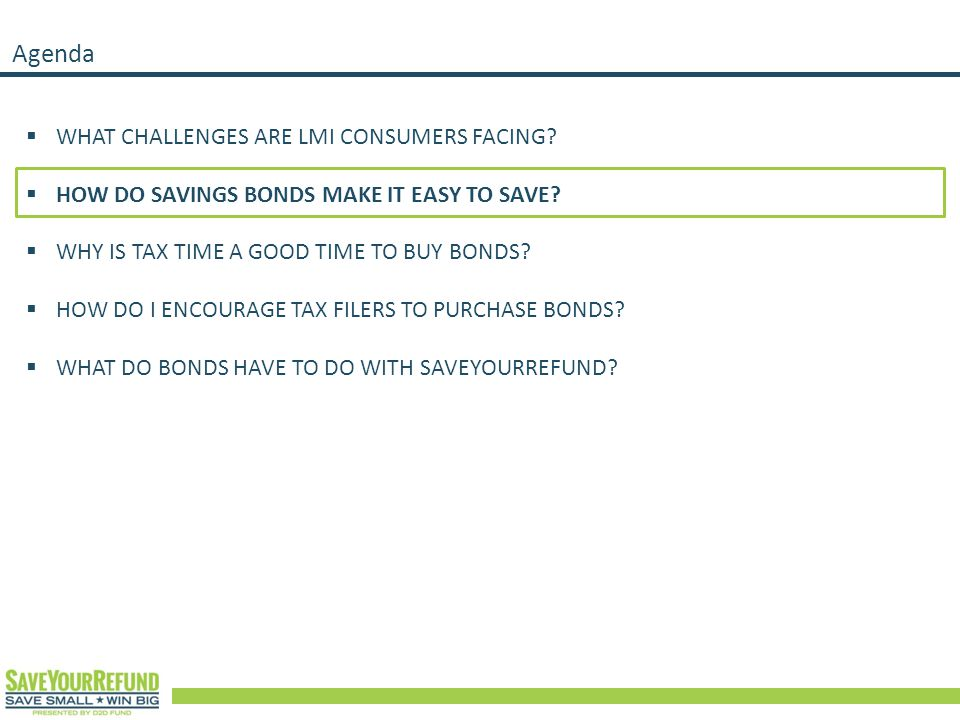 Agenda  WHAT CHALLENGES ARE LMI CONSUMERS FACING.