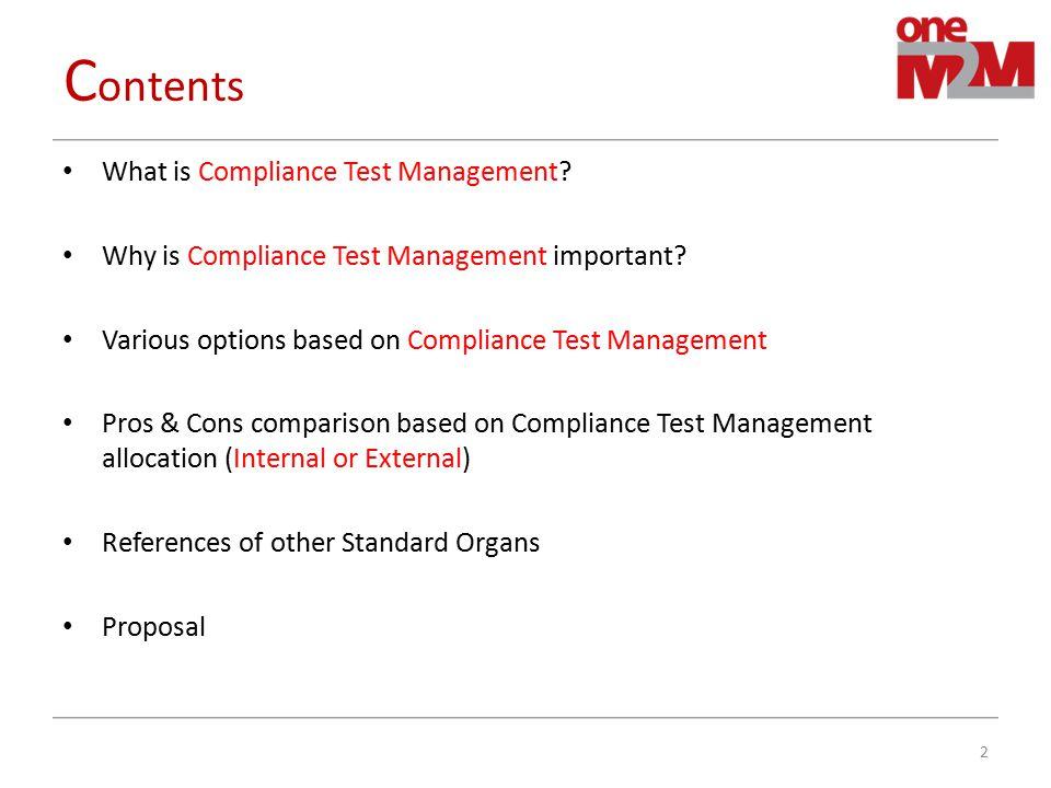 W hat is Compliance Test Management.