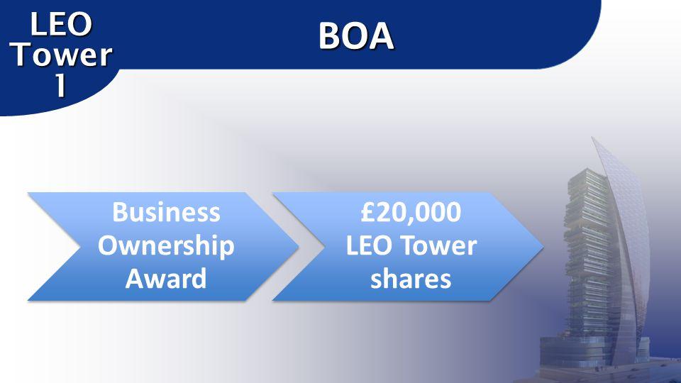 Business Ownership Award £20,000 LEO Tower sharesBOA LEO Tower 1