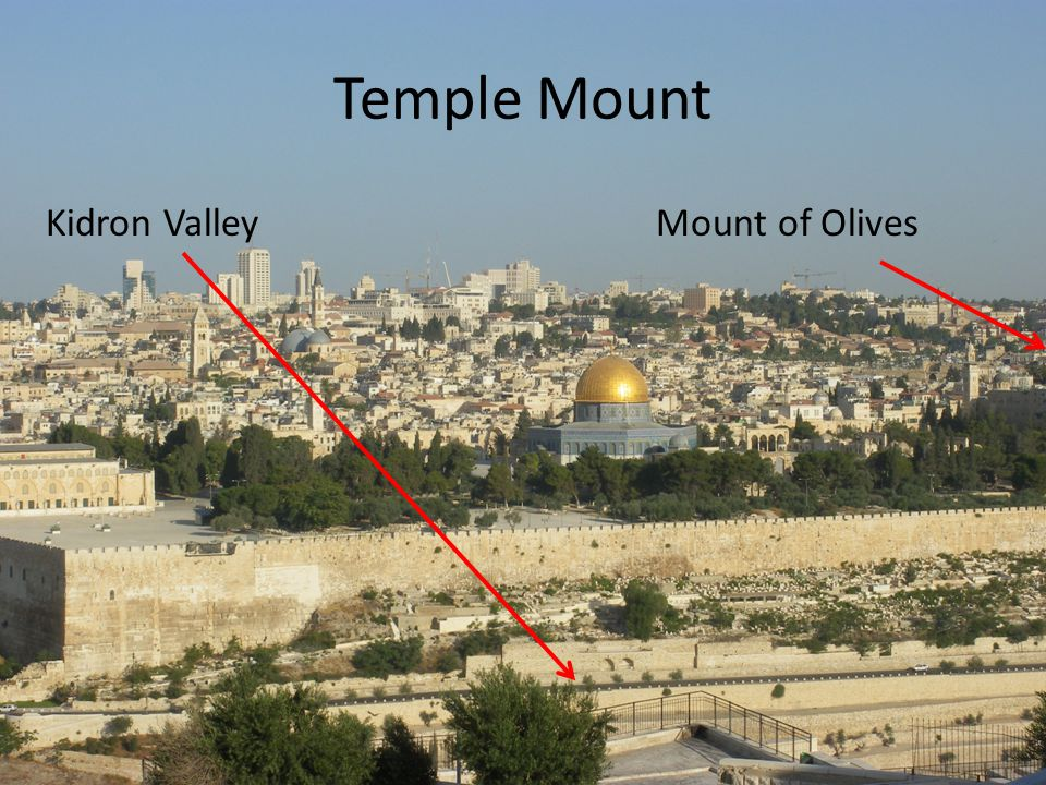 Temple Mount Kidron ValleyMount of Olives