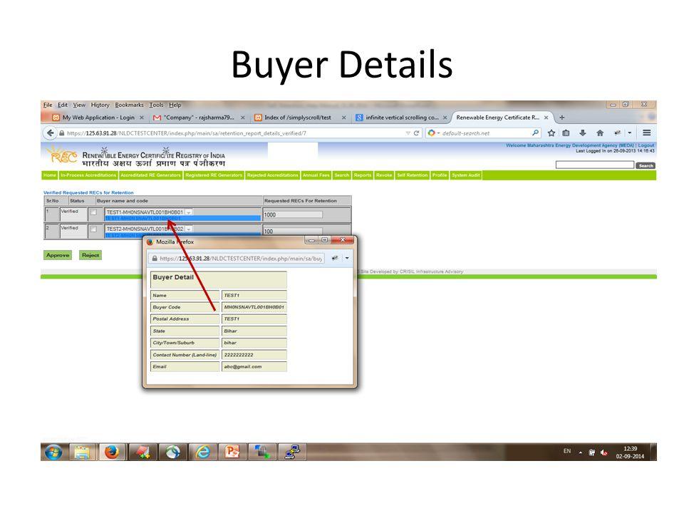 Buyer Details