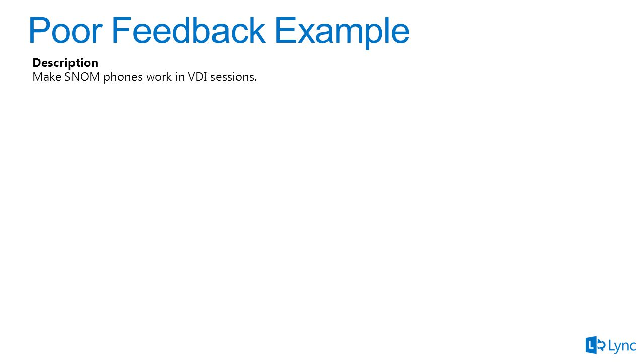 Description Make SNOM phones work in VDI sessions.
