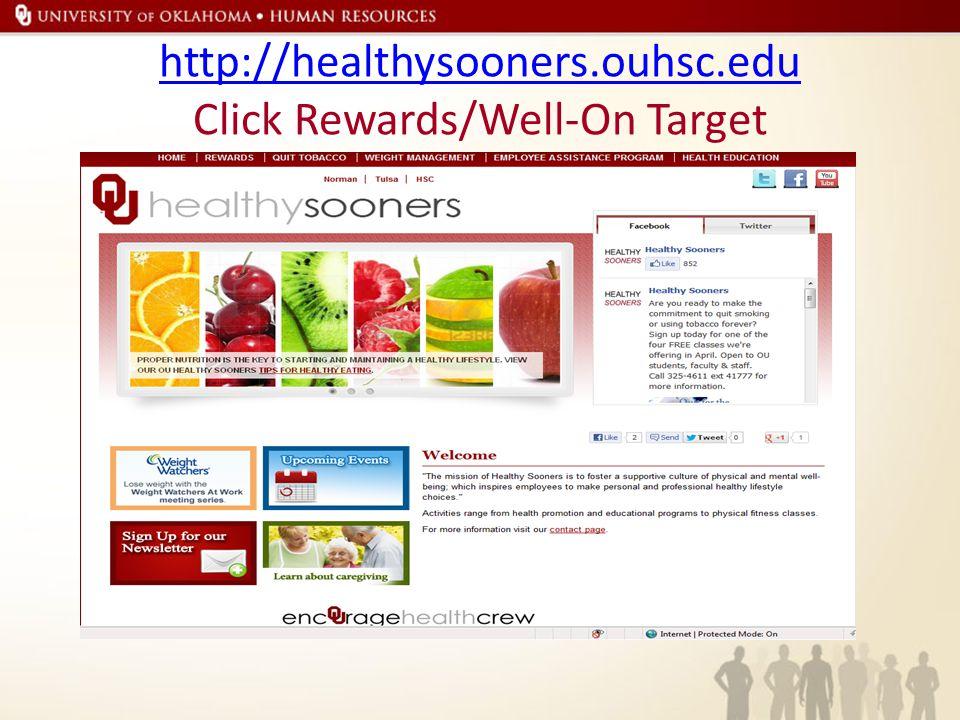 Questions Contact Breion Rollins brollins@ouhsc.edu http://healthysooners.ouhsc.edu Follow Healthysooners https://www.facebook.com/healthysooners https://twitter.com/HealthySooners