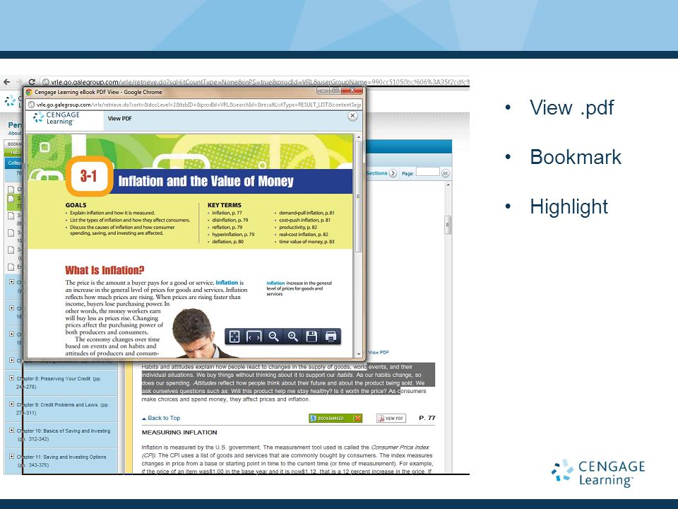 View.pdf Bookmark Highlight