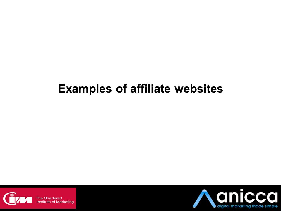 Examples of affiliate websites